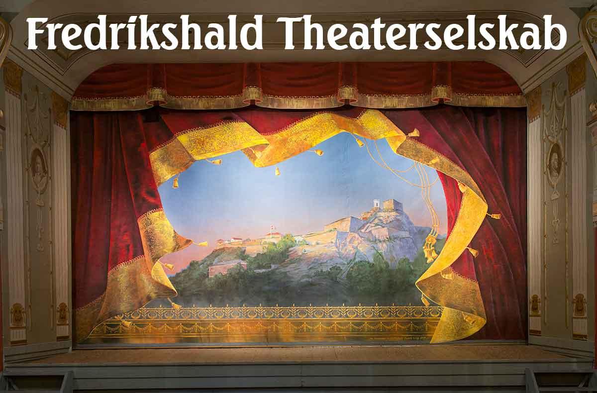 Fredrikshalds teaters forteppe, malt av Ola Berglund, foto: MA fotografene