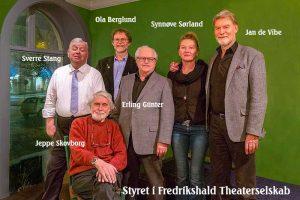 Styremedlemmene i Fredrikshald Theaterselskab