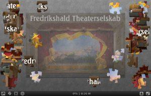 Puslespill av Fredrikshalds teaters sceneteppe
